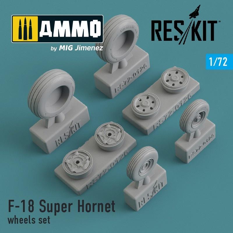 Reskit F-18 Super Hornet wheels set - Scale 1/72 - Reskit - RS72-0126