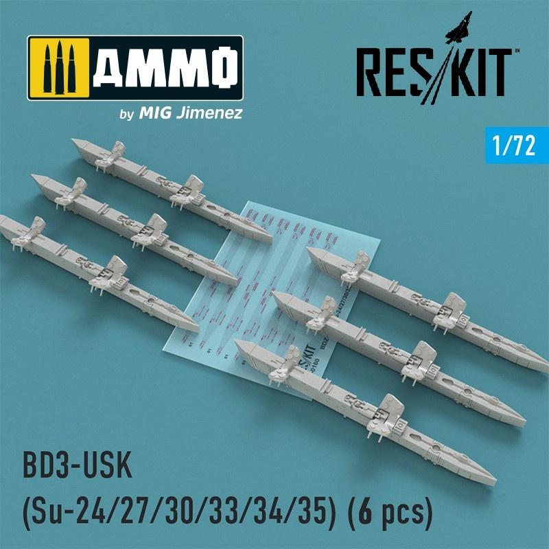 Reskit BD3-USK Racks (Su-24/27/30/33/34/35) (6 pcs) - Scale 1/72 - Reskit - RS72-0160