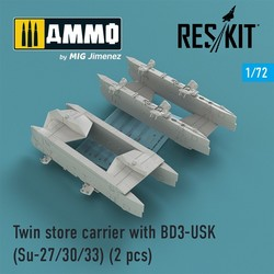 Twin store carrier with BD3-USK (Su-27/30/33) (2 pcs) - Scale 1/72 - Reskit - RS72-0159