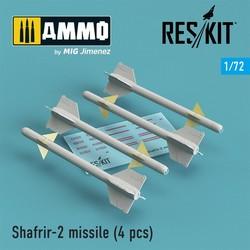 Shafrir-2 missile (4) pcs - Scale 1/72 - Reskit - RS72-0148