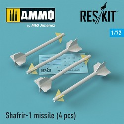 Shafrir-1 missile (4) pcs (Mirage 3C, Mirage 3CJ, Vautour II) - Scale 1/72 - Reskit - RS72-0147