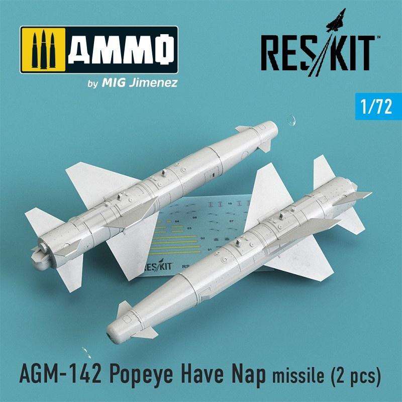 Reskit AGM-142 Popeye Have Nap missile (2 pcs) (F-4, F-15, F-16, F-111) - Scale 1/72 - Reskit - RS72-0146