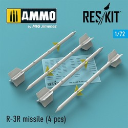 R-3R missile (4 pcs) (MiG-21, MiG-23) - Scale 1/72 - Reskit - RS72-0136