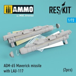 AGM-65 Maverick missile with LAU-117 (2pcs) AV-8b, A-10, F-16, F-18) - Scale 1/72 - Reskit - RS72-0192