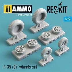F-35 (C) wheels set - Scale 1/72 - Reskit - RS72-0186