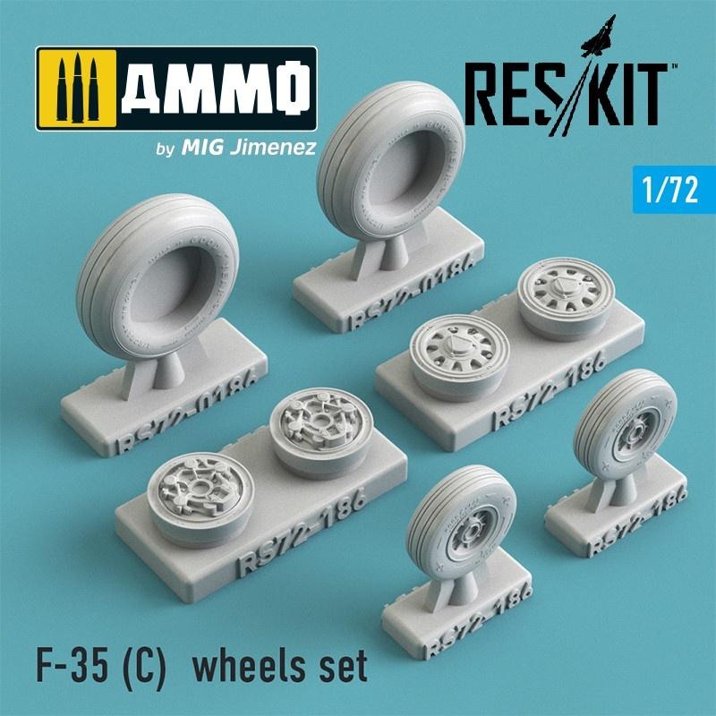 Reskit F-35 (C) wheels set - Scale 1/72 - Reskit - RS72-0186