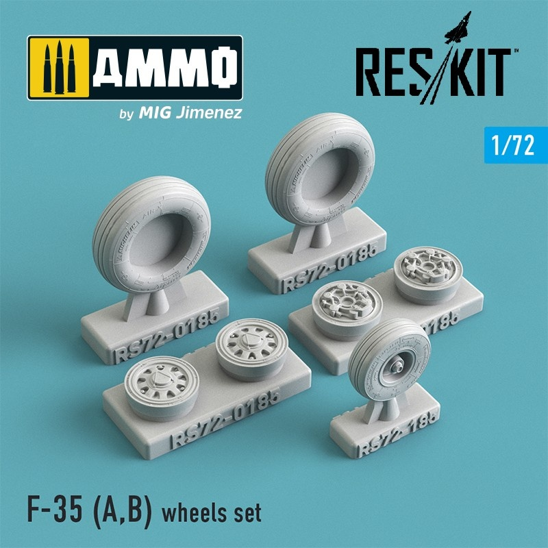 Reskit F-35 (A,B) wheels set - Scale 1/72 - Reskit - RS72-0185