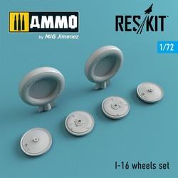 I-16 wheels set - Scale 1/72 - Reskit - RS72-0241