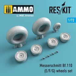 Bf.110 (E/F/G) wheels set - Scale 1/72 - Reskit - RS72-0216