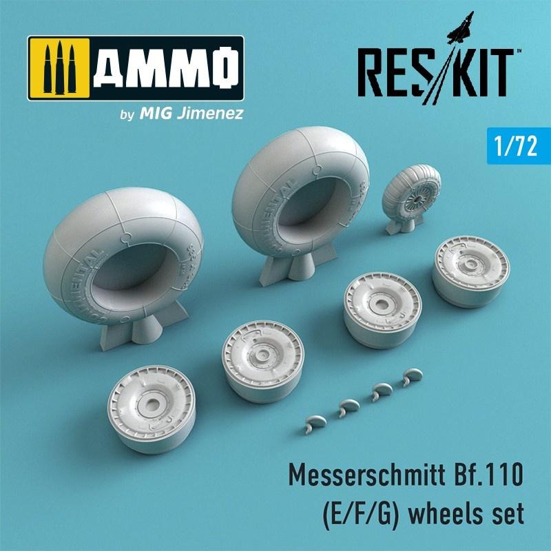 Reskit Bf.110 (E/F/G) wheels set - Scale 1/72 - Reskit - RS72-0216