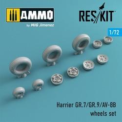 Harrier GR.7/GR.9/AV-8B wheels set - Scale 1/72 - Reskit - RS72-0212