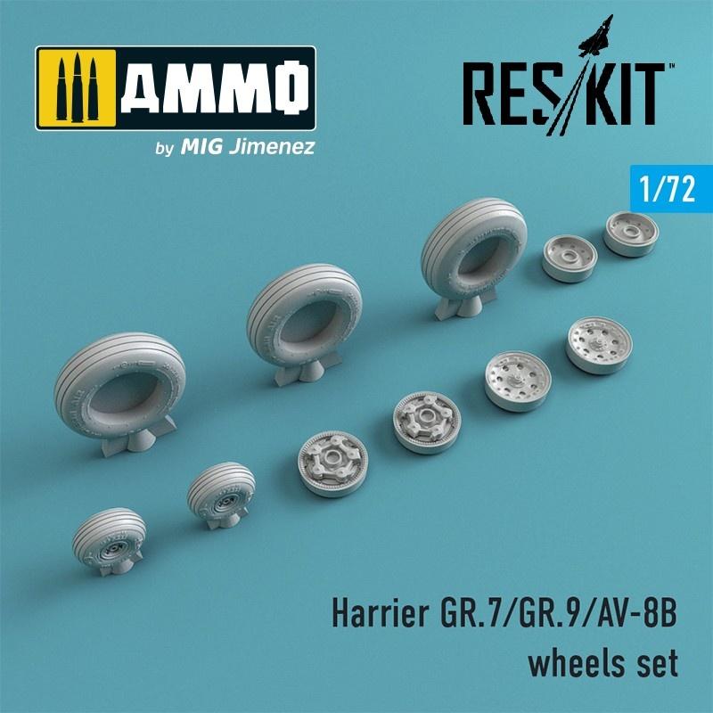 Reskit Harrier GR.7/GR.9/AV-8B wheels set - Scale 1/72 - Reskit - RS72-0212