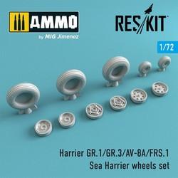 Harrier GR.1/GR.3/AV-8A/FRS.1/Sea Harrier wheels set - Scale 1/72 - Reskit - RS72-0211