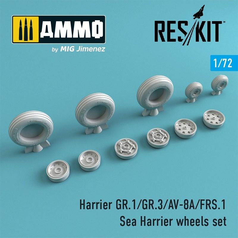 Reskit Harrier GR.1/GR.3/AV-8A/FRS.1/Sea Harrier wheels set - Scale 1/72 - Reskit - RS72-0211