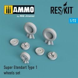 Super Etendard wheels set - Scale 1/72 - Reskit - RS72-0194