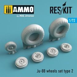 Ju-88 wheels set type 2 - Scale 1/72 - Reskit - RS72-0271