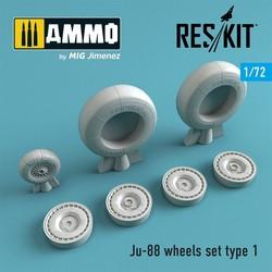 Ju-88 wheels set type 1 - Scale 1/72 - Reskit - RS72-0270