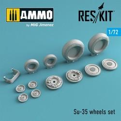 Su-35 wheels set - Scale 1/72 - Reskit - RS72-0269