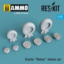 Gloster Meteor wheels set - Scale 1/72 - Reskit - RS72-0266