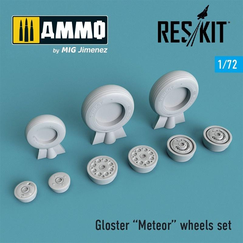 Reskit Gloster Meteor wheels set - Scale 1/72 - Reskit - RS72-0266