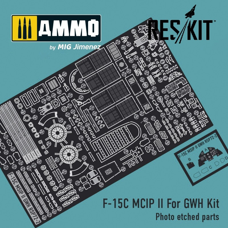Reskit F-15C MCIP ll For GWH Kit (Photo etched parts 1/72) - Scale 1/72 - Reskit - RSP72-0002