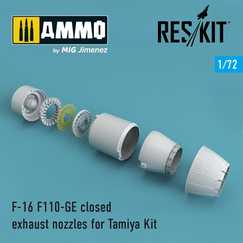 Reskit F-16 F110-GE closed exhaust nozzles for Tamiya Kit - Scale 1/72 - Reskit - RSU72-0078