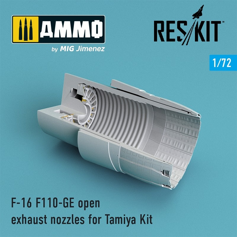 Reskit F-16 F110-GE open exhaust nozzles for Tamiya Kit - Scale 1/72 - Reskit - RSU72-0077