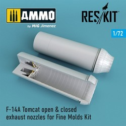 F-14A Tomcat open & closed exhaust nozzles for Fine Molds Kit - Scale 1/72 - Reskit - RSU72-0073