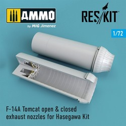 F-14A Tomcat open & closed exhaust nozzles for Hasegawa Kit - Scale 1/72 - Reskit - RSU72-0067