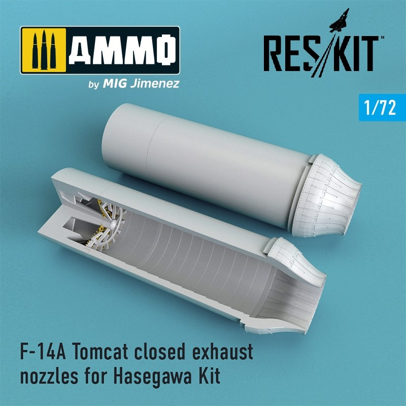 Reskit F-14A Tomcat closed exhaust nozzles for Hasegawa Kit - Scale 1/72 - Reskit - RSU72-0066
