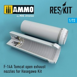 F-14A Tomcat open exhaust nozzles for Hasegawa Kit - Scale 1/72 - Reskit - RSU72-0065