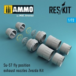 Su-57 fly position exhaust nozzles Zvezda Kit - Scale 1/72 - Reskit - RSU72-0054