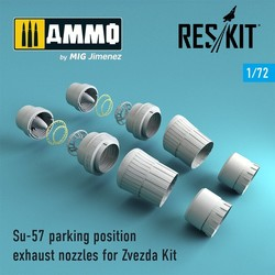 Su-57 parking position exhaust nozzles for Zvezda Kit - Scale 1/72 - Reskit - RSU72-0053
