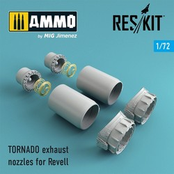 TORNADO exhaust nozzles for Revell - Scale 1/72 - Reskit - RSU72-0050