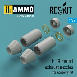 F-18 Hornet exhaust nozzles for Academy Kit - Scale 1/72 - Reskit - RSU72-0030