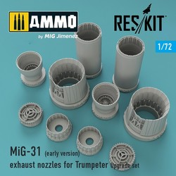 MiG-31 (early version) exhaust nozzles for Trumpeter - Scale 1/72 - Reskit - RSU72-0023