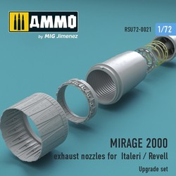 MIRAGE 2000 exhaust nozzles for Italeri / Revell - Scale 1/72 - Reskit - RSU72-0021