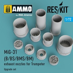 MiG-31 (B/BS/BMS/BM) exhaust nozzles for Trumpeter - Scale 1/72 - Reskit - RSU72-0017