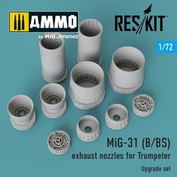 MiG-31 (B/BS) exhaust nozzles for Trumpeter - Scale 1/72 - Reskit - RSU72-0016