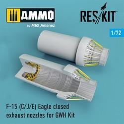 F-15 C/J/E Eagle closed exhaust nozzles late version for GWH Kit - Scale 1/72 - Reskit - RSU72-0098