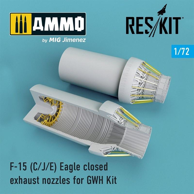 Reskit F-15 C/J/E Eagle closed exhaust nozzles late version for GWH Kit - Scale 1/72 - Reskit - RSU72-0098