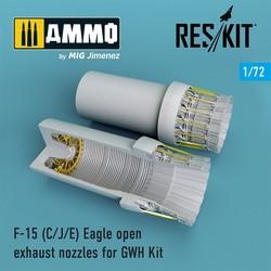 F-15C/J/E Eagle open exhaust nozzles late version for GWH Kit - Scale 1/72 - Reskit - RSU72-0097