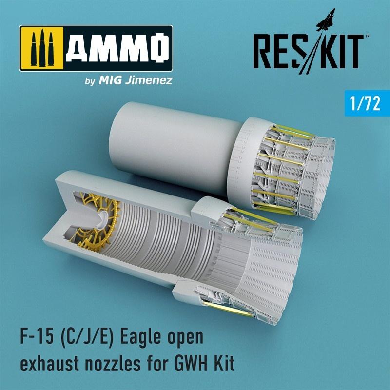 Reskit F-15C/J/E Eagle open exhaust nozzles late version for GWH Kit - Scale 1/72 - Reskit - RSU72-0097
