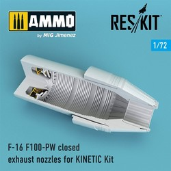 F-16 F100-PW closed exhaust nozzles for KINETIС Kit - Scale 1/72 - Reskit - RSU72-0090