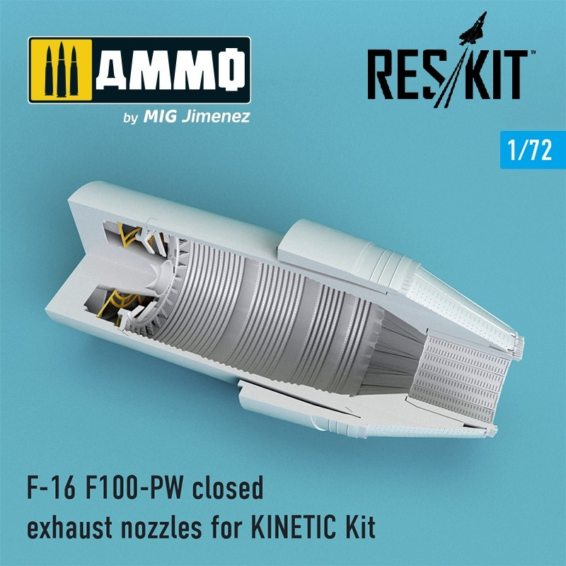 Reskit F-16 F100-PW closed exhaust nozzles for KINETIС Kit - Scale 1/72 - Reskit - RSU72-0090