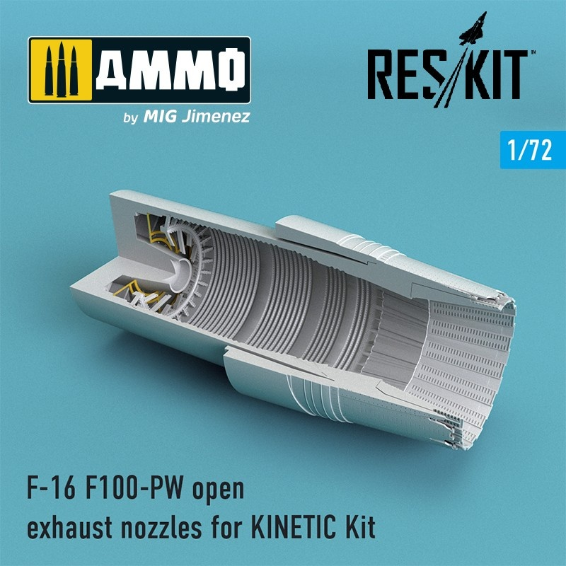 Reskit F-16 F100-PW open exhaust nozzles for KINETIС Kit - Scale 1/72 - Reskit - RSU72-0089