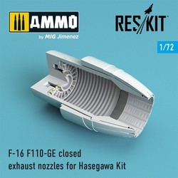 F-16 F110-GE closed exhaust nozzles for  Hasegawa Kit - Scale 1/72 - Reskit - RSU72-0082