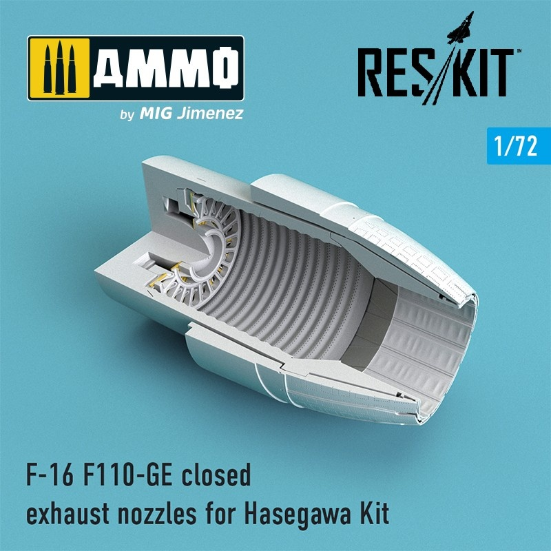 Reskit F-16 F110-GE closed exhaust nozzles for  Hasegawa Kit - Scale 1/72 - Reskit - RSU72-0082
