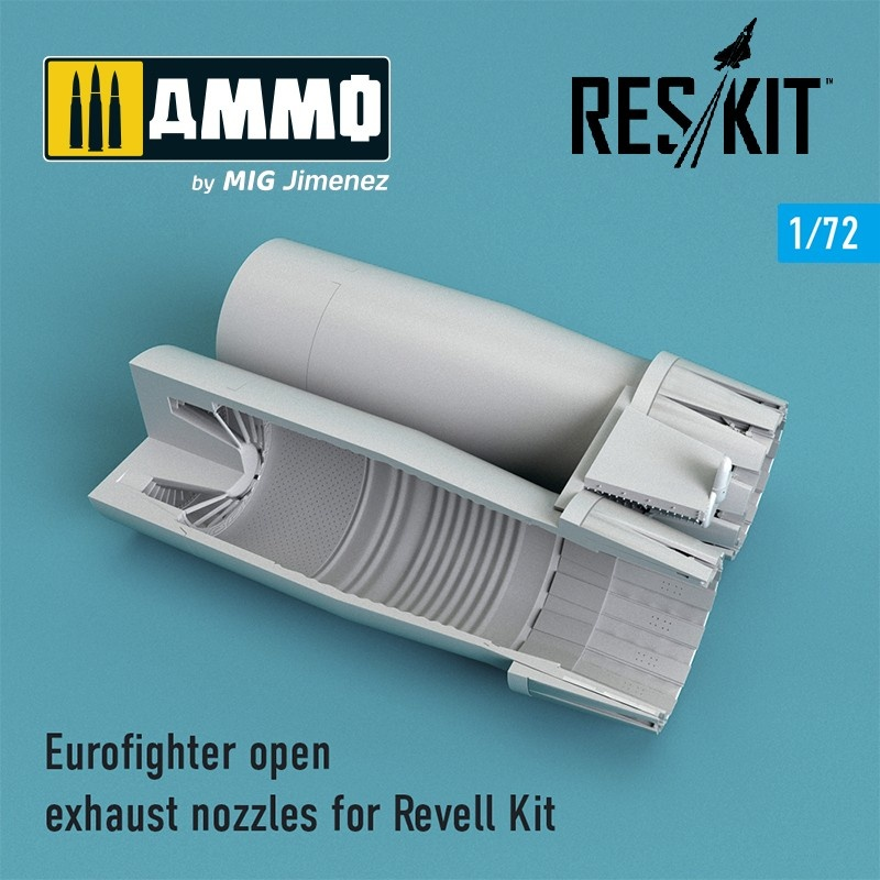 Reskit Eurofighter open exhaust nozzles for Revell Kit - Scale 1/72 - Reskit - RSU72-0108
