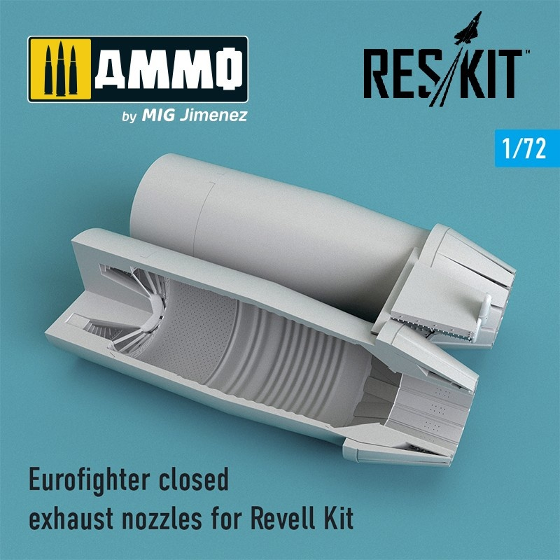 Reskit Eurofighter closed exhaust nozzles for Revell Kit - Scale 1/72 - Reskit - RSU72-0107